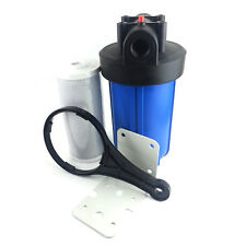 "10"" Big Blue Whole House CTO Carbon Water Filter Purifier w/ Bracket & Cartridge"