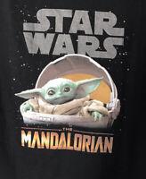 Disneyland Mandalorian T Shirt Baby Yoda, The Child, Men's Large NWT Black New