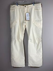 NWT Burton Womens Dry Ride WB Fly Pant Snowboarding Cargo Pants Cream Size XL