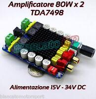 MODULO TDA7498 AMPLIFICATORE DIGITALE CLASSE D 80W x 2 THD 1% HI-FI AUDIOPHILE