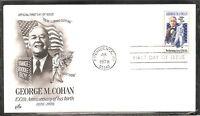 US SC # 1756 George M Cohan FDC. Artcraft Cachet