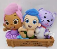 Nickelodeon BUBBLE GUPPIES GIL MOLLY& PUPPY& BRAND & KITTY Plush Toy 3pcs