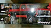 Traxxas TRX-4 1/10 Truck w/'79 Chevrolet K5 Blazer Body Red 82076-4 Brand New!!