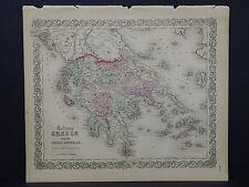 Colton's Maps, 1855, Authentic #30 Greece
