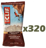 Huge Lot of 320 CLIF Mini Bars - Chocolate Brownie - Energy - Protein - 0.99oz