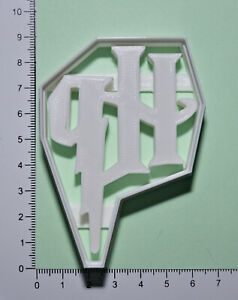 Harry Potter H P Cutter or fondant  3d printed