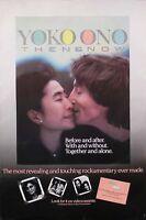 John Lennon & Yoko Ono Then & Now Original Video Promo Poster