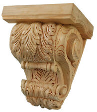 Kitchen Corbels with Capping, Leafed Design (PAIR) in Solid PINE Wood #798