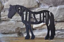 Friesian Horse Wood Tack Room Toy Puzzle Amish Made Figurine Art