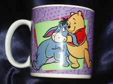 SAKURA DISNEY POOH 1997 MUG FEATURING POOH BEAR & EEYOR PURPLE HORSE 14 OZ