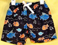 The Children's Place Baby Boy's SWIMING FISH Swim Shorts Trunks 3-6 Mon NWT