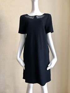 MARC by MARC JACOBS Black Wool/Cotton Lace Lining Dress Size M