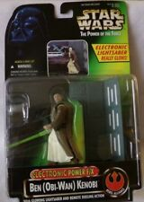 STAR WARS ELECTRONIC POWER F/X BEN OBI-WAN KENOBI w/Glowing Lightsaber.Kenner 96