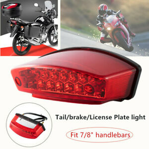 "1PC 21LED Motorcycle Bikes Rear Tail Brake Light License Number Plate Lamp 7/8"""