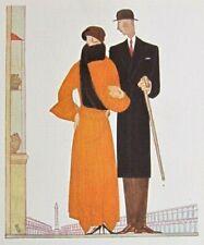 Bénito Le Voyage Sentimental Gazette Bon Ton 1922 Pl. 74 Art-Déco Couple