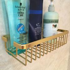 Aluminum Nail Free Gold Bathroom Shower Shelf Holder Storage Caddy Organizer