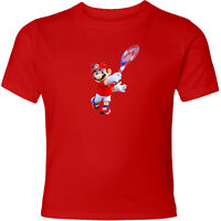Nintendo Super Mario Tennis Unisex Men Women Fun Family Sport Video Game T-Shirt