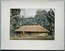 ca.1895 French photochrom 'UPA 'UPA DANCE, TAHITI, FRENCH POLYNESIA (#271)