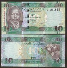 SOUTH SUDAN  10 Pounds 2015 UNC P 12 a