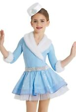 New Figure Ice Skating Baton Twirling Holiday Costume Christmas Dance Child