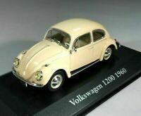 Superbo Atlas 1/43 Diecast Classico 1960 Volkswagen VW Maggiolino 1200 a Crema /
