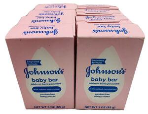 (8) JOHNSON'S Baby Bath Bar Soap 3 oz FREE SHIPPING!