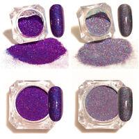 2Boxes Nail Glitter Powder Holographic Pigment Dust Holo Nail Art Decor Tips