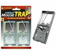 Metal Mouse & Rat Traps Mice Rodent Pest Control Trap