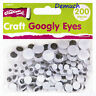 New 200 Pcs CRAFT GOOGLY EYES Wiggly Wobbly Mixed Sizes Art Craft Decoration UK✔