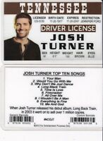 TENNESSEE Country Music Singers fun Drivers License fake id card