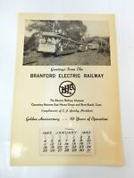 1953 Advertising Calendar Branford Electric Railway Museum East Haven Conn Train