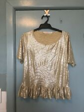 Trelise Cooper Lily Too But Coop Gold Top In Size 6