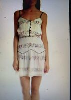 Charlotte Ronson Silk Floral Tiered Dress, Size 4