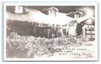 Postcard New Year's Eve @ Laguna Mountain Lodge, Mount Laguna, CA RPPC D13