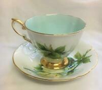 Paragon China Teacup & Saucer Six World Famous Roses Henry Wheatcroft Virgo