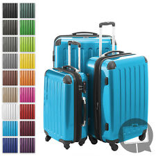 Alex Hauptstadtkoffer Set of 3 Hardside Luggages Trolley Suitcase Cyan Blue TSA Zahlenschloss