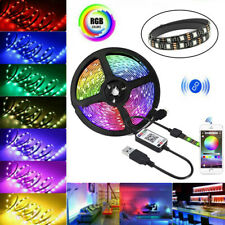 5V USB LED Strip Lights 5050 RGB Color Change Bluetooth APP Remote TV Back Light