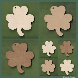 Wooden Shamrock shapes MDF and plywood craft blanks and cutouts -Various sizes
