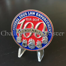 DEA 100 Years Anniversary Drug Enforcement Administration Challenge Coin