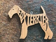 Fox Terrier Dog Adorable Wood Toy Dog Christmas Ornaments Gift Tag