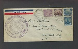 US 1929 First Around the World Graf Zeppelin franked with the 5c,50c,$1,$2 P.11
