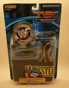 WWF WRESTLING RING GEAR SERIES 3 TITLE BELT AND RING SKIRTS HARDCORE HARDWARE