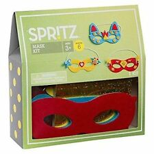 Mardi Gras Mask Make Your Own Craft Activity Kit 6 CT - Spritz Ages 3+