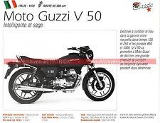 MOTO GUZZI V50 ( V 50 500 ) 1978 Fiche Moto 000213