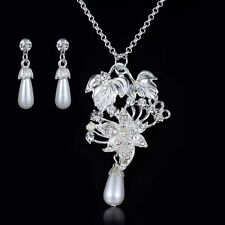 Silver Plated White Fashion Jewellery Sets