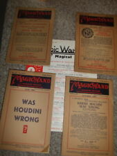 50 Issues magic Wand Magazine 1950's Houdini Armstrong