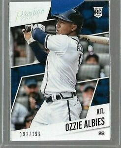 2018 Panini Prestige Ozzie Albies ROOKIE Card #D to 199 Braves