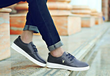 PLAYBOY Men's Casual Leather Sport Gym Shoes Original Retro Style Navy Trainers