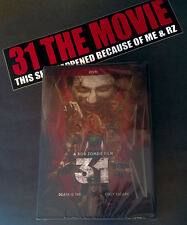 New/sealed- Rob Zombie 31 DVD Autographed Fanbacked Signed Copy & Bumper Sticker