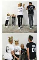 King Queen Prince Princess Family Matching T-shirt